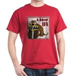 Valentine Dog Dark T-Shirt
