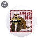 "Valentine Dog 3.5"" Button (10 pack)"