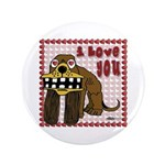 "Valentine Dog 3.5"" Button"