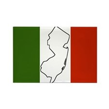 New Jersey Italian Flag Rectangle Magnet
