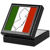 New Jersey Italian Flag Keepsake Box