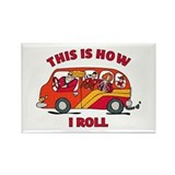 How I Roll Mom Minivan Rectangle Magnet
