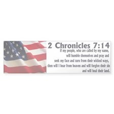 2 Chronicles 7:14 Bumper Bumper Sticker