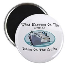 "Happens On The Cruise 2.25"" Magnet (100 pack)"