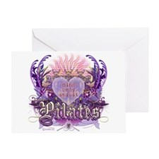 Pilates Chantilly Lace Greeting Card