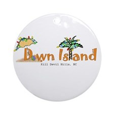 Down Island Ornament (Round)