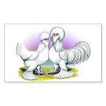 Sultan Chickens Rectangle Sticker
