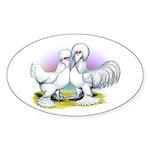 Sultan Chickens Oval Sticker (10 pk)