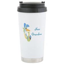 New Grandma (blue) Ceramic Travel Mug