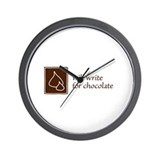 Will Write for Chocolate Wall Clock