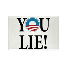 Obama lies Rectangle Magnet (100 pack)