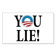 Obama lies Rectangle Sticker 50 pk)