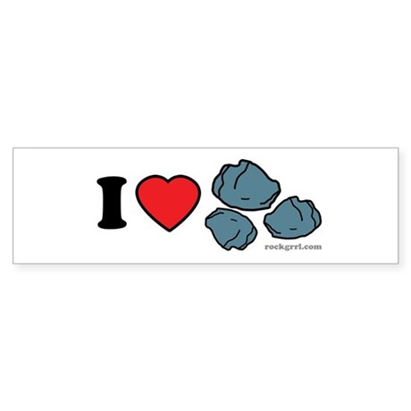 I Love Rocks Bumper Sticker