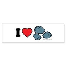 I Love Rocks Bumper Bumper Sticker