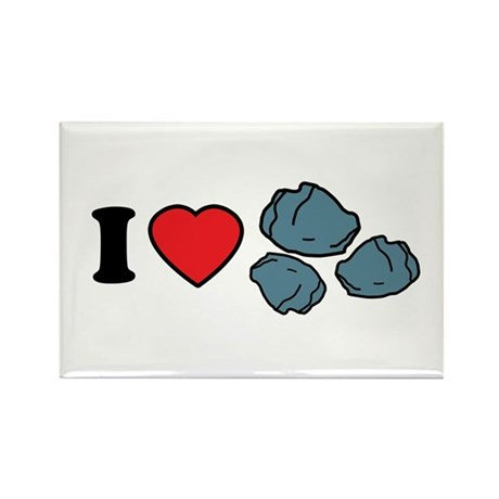 I Love Rocks Rectangle Magnet (10 pack)