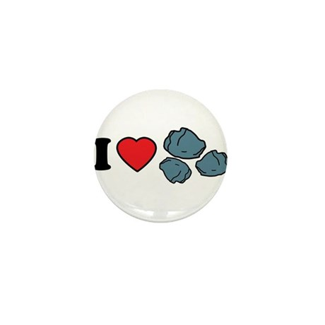 I Love Rocks Mini Button