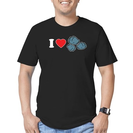 I Love Rocks Men's Fitted T-Shirt (dark)