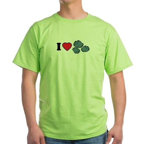 I Love Rocks Green T-Shirt