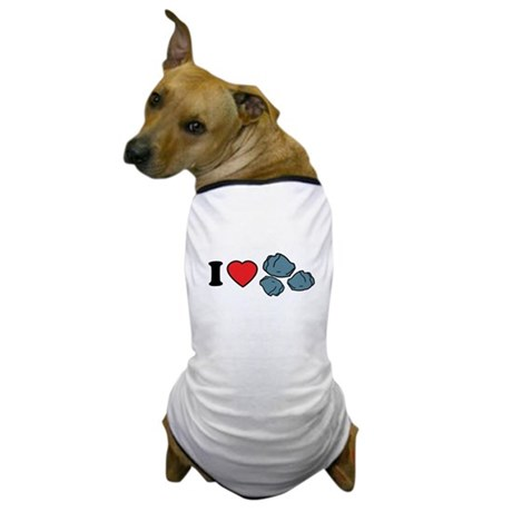 I Love Rocks Dog T-Shirt