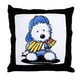 Westie Terrier Gardener Throw Pillow