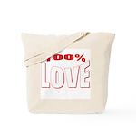 100% Love Tote Bag
