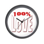 100% Love Wall Clock