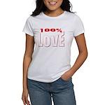 100% Love Women's T-Shirt