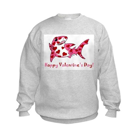 Valentine Shark Kids Sweatshirt