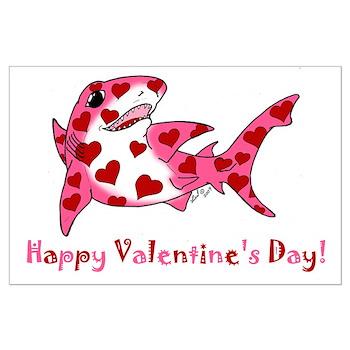 Valentine Shark Large Poster