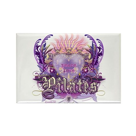 Peace Love Pilates Rectangle Magnet
