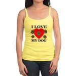 I Love My Dog Jr. Spaghetti Tank