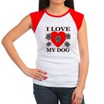 I Love My Dog Women's Cap Sleeve T-Shirt