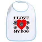 I Love My Dog Bib