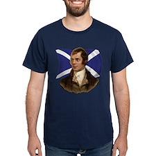 Robert Burns with Scottish Flag T-Shirt