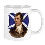 Robert Burns with Scottish Flag Coffee Mug