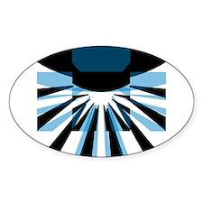 Composite Logo Oval Sticker