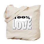 100% Love Tote Bag