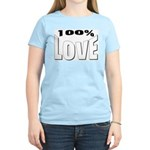 100% Love Women's Pink T-Shirt