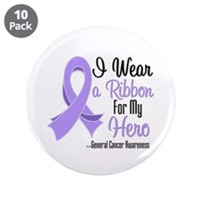 "Hero - General Cancer 3.5"" Button (10 pack)"