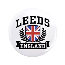"Leeds England 3.5"" Button"