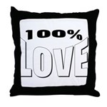 100% Love Throw Pillow