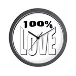 100% Love Wall Clock