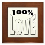 100% Love Framed Tile
