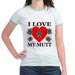 I Love My Mutt Jr. Ringer T-Shirt