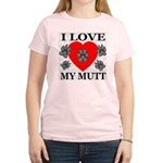 I Love My Mutt Women's Pink T-Shirt