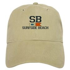 Surfside Beach SC - Nautical Design Baseball Cap