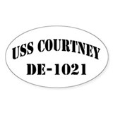 USS COURTNEY Oval Bumper Stickers