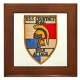 USS COURTNEY Framed Tile