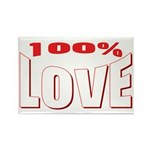 100% Love Rectangle Magnet (10 pack)