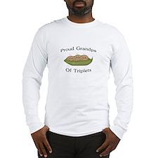 Grandpa Of Triplets Long Sleeve T-Shirt
